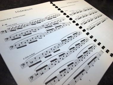 15 MINUTE WARM-UP ROUTINEの楽譜例