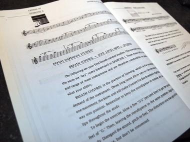 musical calisthenics for brassの楽譜例