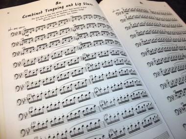 Warm-up Bookの楽譜例